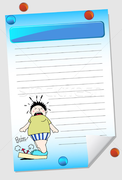 Weight Notepad Stock photo © cteconsulting