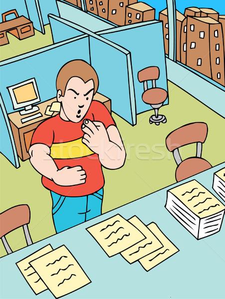 Kâğıt kesmek adam yaralı iş ofis Stok fotoğraf © cteconsulting
