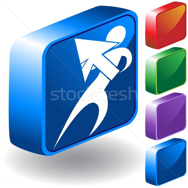 Pointer 3D Icon Stock photo © cteconsulting