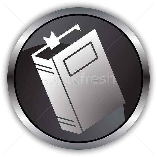 Fekete szatén könyv 3D kép króm Stock fotó © cteconsulting