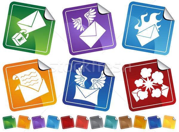 электронная почта иконки изображение икона бизнеса письме Сток-фото © cteconsulting