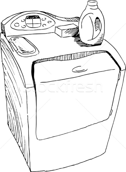 Line Art Xl 2010 : Washing machine vector illustration john takai