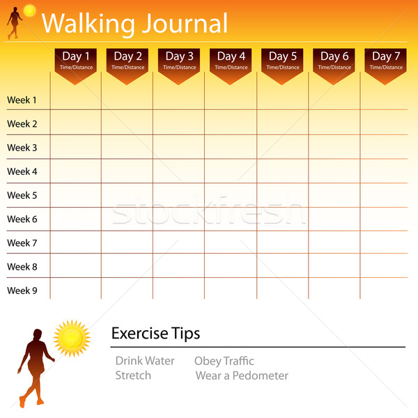 Walking Journal Chart Stock photo © cteconsulting