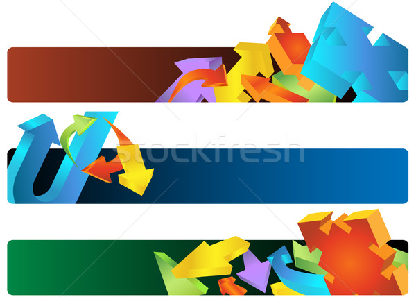 Stock photo: Arrow Banners