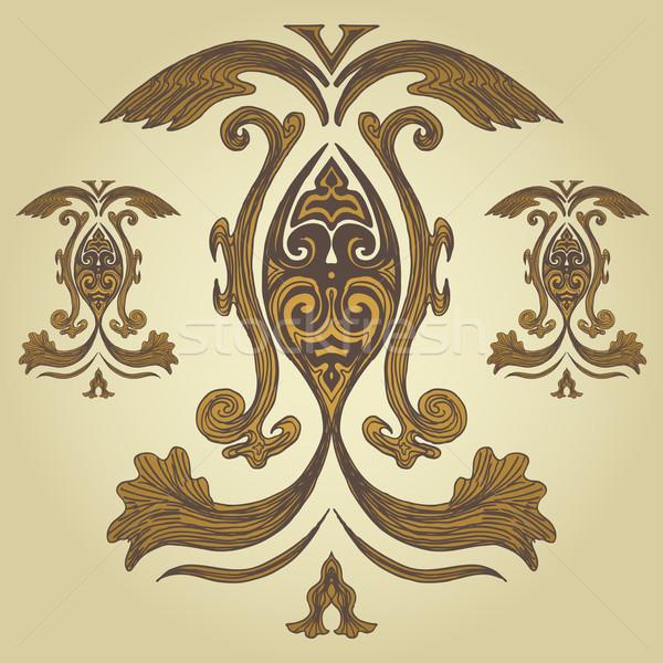 королевский гребень фон искусства крыло Сток-фото © cteconsulting
