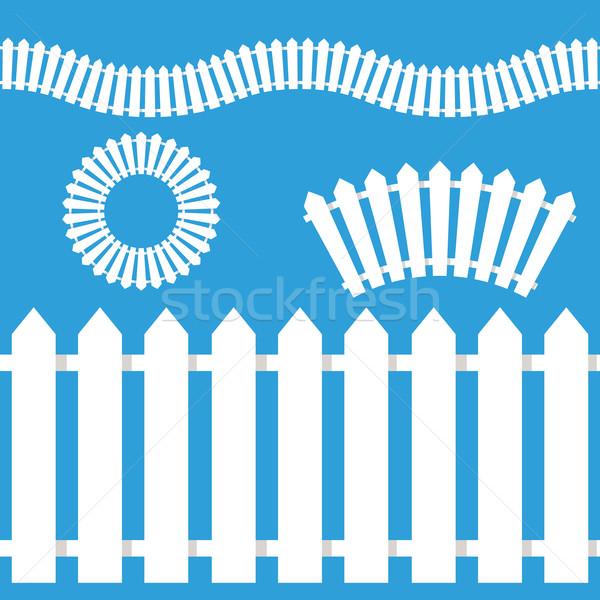 White Picket Fence Icon Set Stock photo © cteconsulting