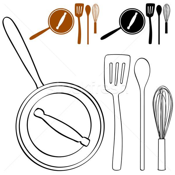 Cooking Pot Set Stock photo © cteconsulting