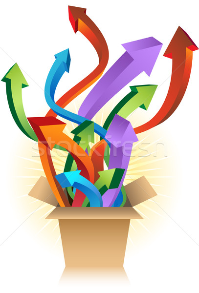 Stock photo: Shipping Box with Arrows