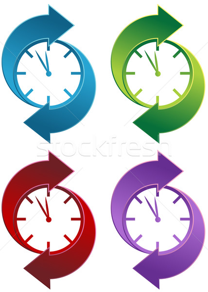 Relógio isolado branco primavera projeto Foto stock © cteconsulting