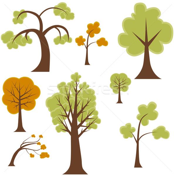 Tree Set Stock photo © cteconsulting