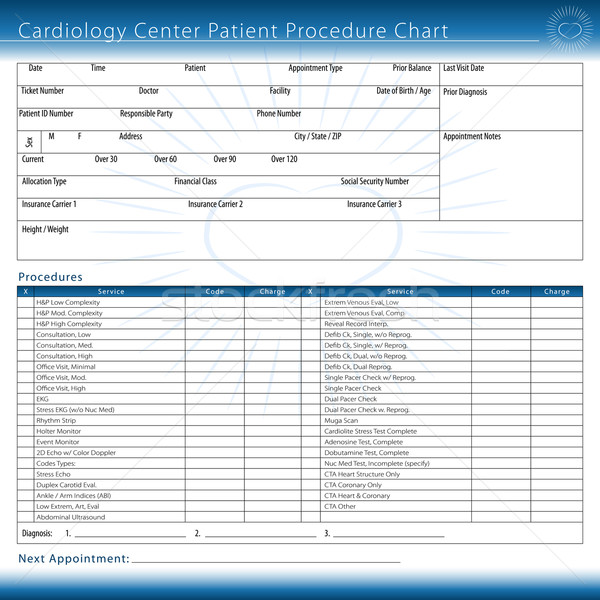 Cardiology Center Patient Procedure Chart Stock photo © cteconsulting