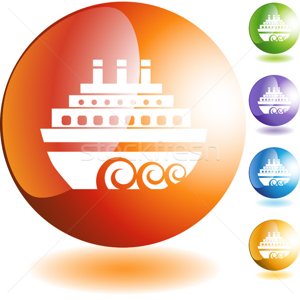 Crucero aislado azul barco blanco Foto stock © cteconsulting