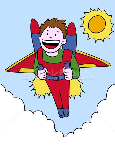 Jetpack Adventure Stock photo © cteconsulting