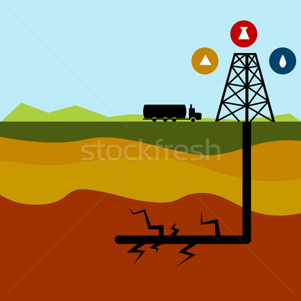 Fracking Oil Diagram Stock photo © cteconsulting