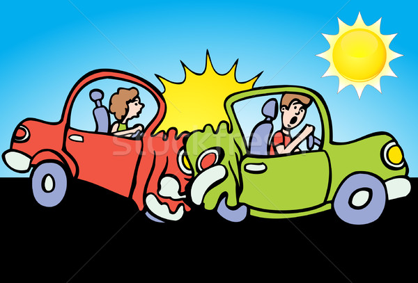 Car Crash - Sunny Day Stock photo © cteconsulting