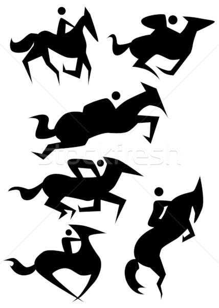 Stock photo: Horse Icon Set