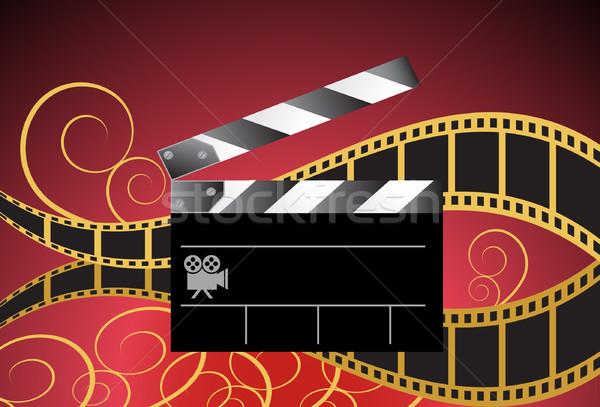 Movie Background: Film Slate Reel Stock photo © cteconsulting
