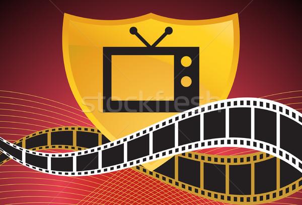 Stock fotó: Film · televízió · pajzs · film · elemek · absztrakt