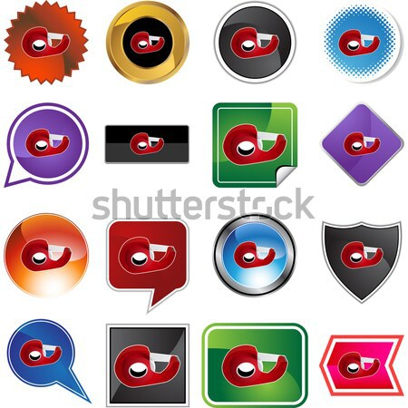 3D Sticker Set - Tape Dispenser Stock photo © cteconsulting