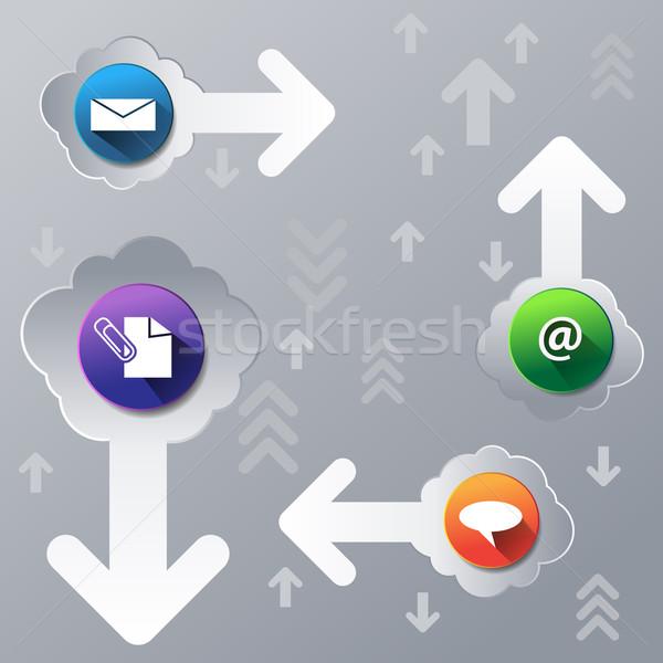 Felhő kommunikáció folyam kép üzlet technológia Stock fotó © cteconsulting