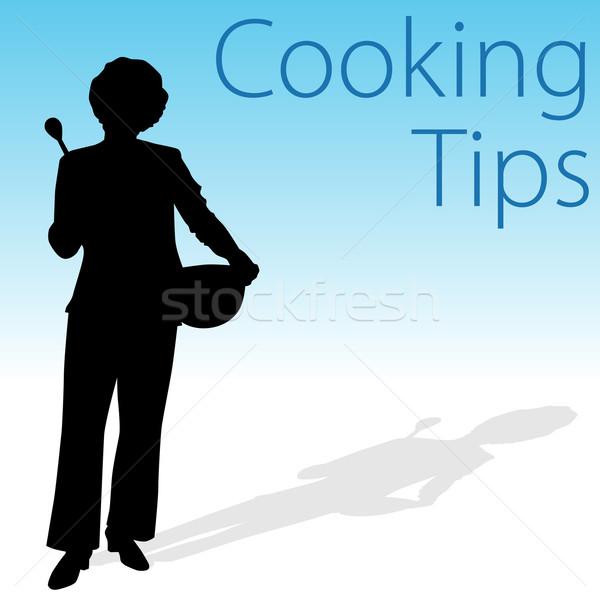 料理 ヒント 画像 女性 スプーン ストックフォト © cteconsulting
