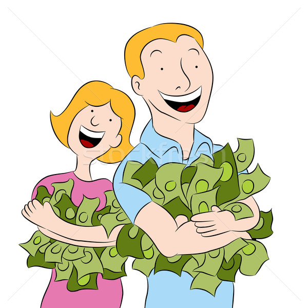 People Holding Piles of Money Stock photo © cteconsulting
