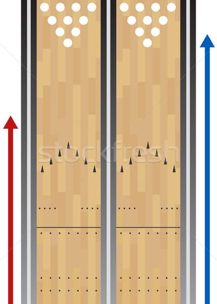 Bowling grafiek afbeelding sport kaart Stockfoto © cteconsulting