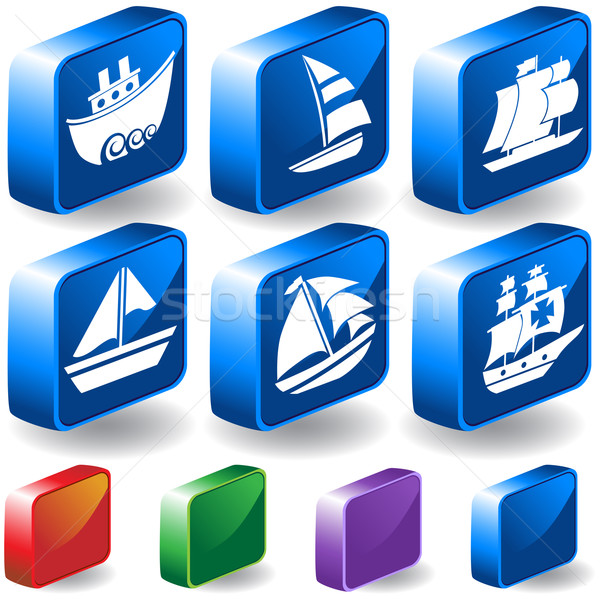 3D Nautical Buttons Stock photo © cteconsulting