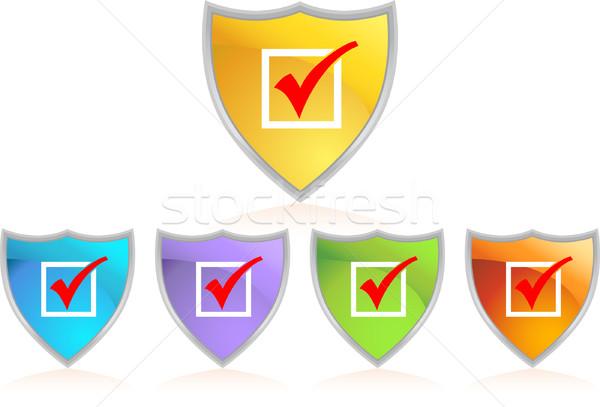 Checkmark Shield Stock photo © cteconsulting