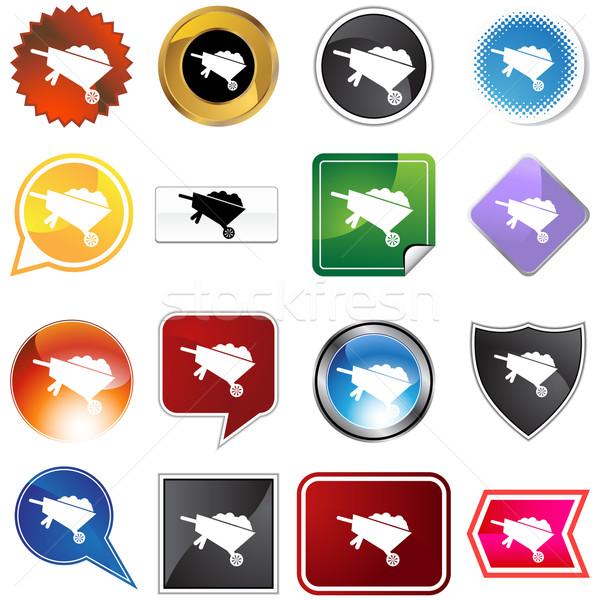 Wheelbarrow Icon Set Stock photo © cteconsulting