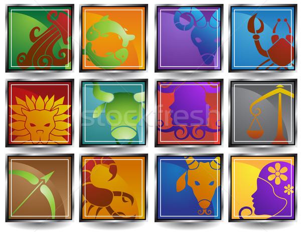 зодиак изображение 12 лев овец Сток-фото © cteconsulting