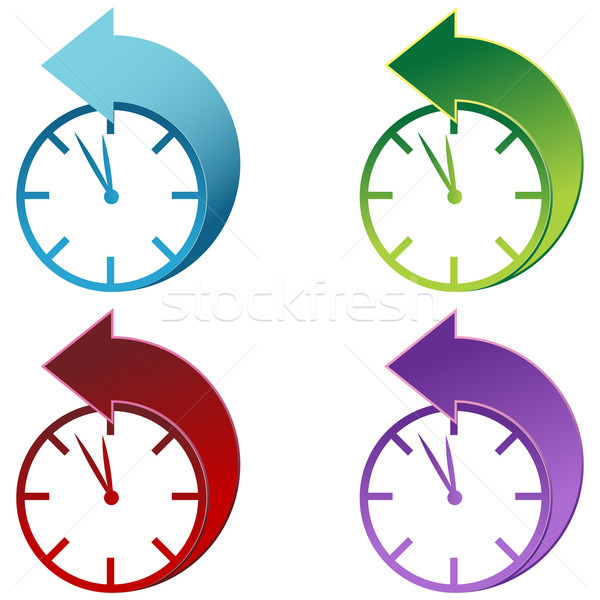 Daylight Savings Time Clock  Stock photo © cteconsulting