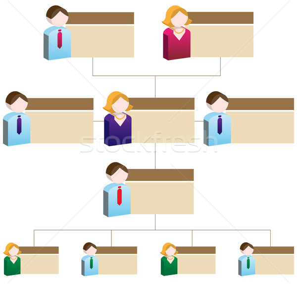 Diversity Organizational Chart Stock photo © cteconsulting