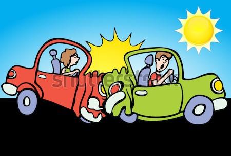 Pessoas carro acidente imagem duas pessoas Foto stock © cteconsulting