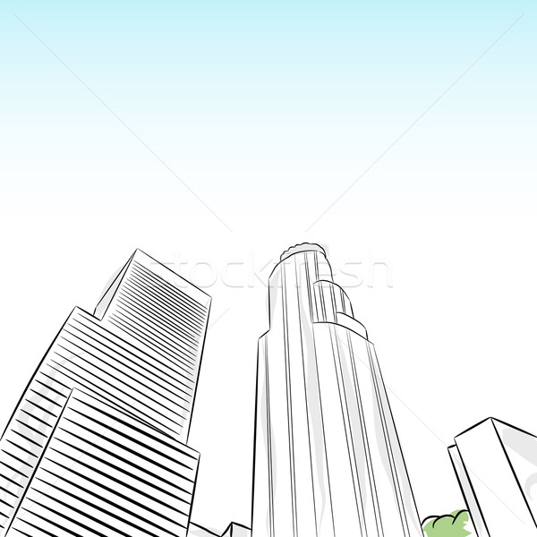 Centre-ville Los Angeles image graphique cartoon Photo stock © cteconsulting