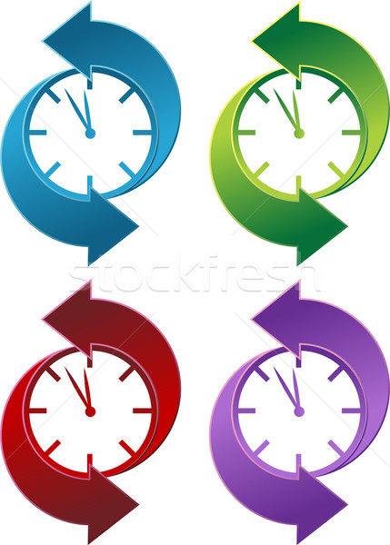 Clock Backwards Stock photo © cteconsulting