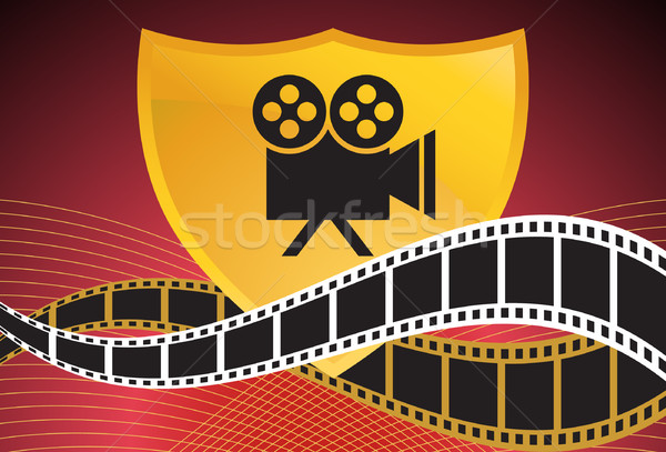 Movie Background: Film Slate Reel Stock photo © cteconsulting