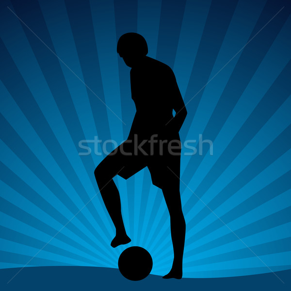 Beach Soccer Player Stock photo © cteconsulting