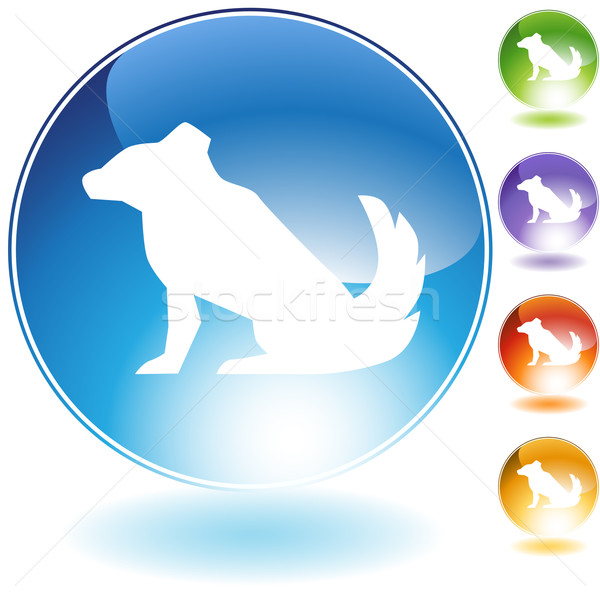 Dog Crystal Icon Stock photo © cteconsulting