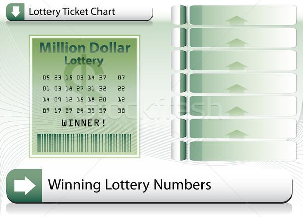 победа лотерея билета изображение фон знак Сток-фото © cteconsulting