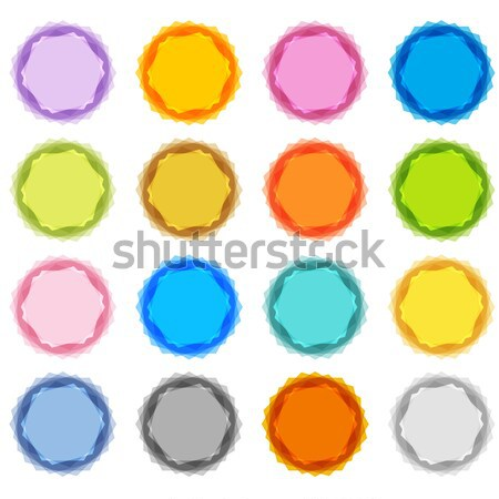 Bottle Cap Button Set Stock photo © cteconsulting
