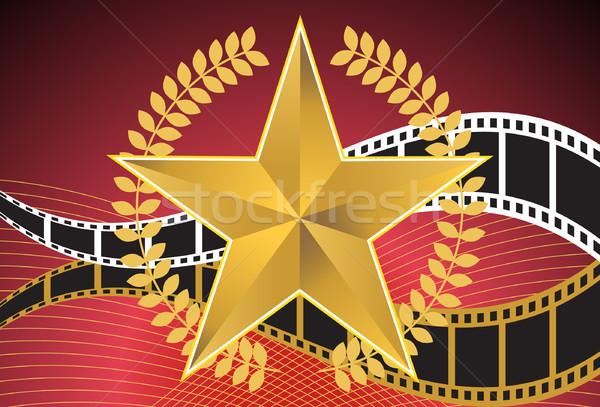 Stock fotó: Film · csillag · 3D · film · elemek · mozi