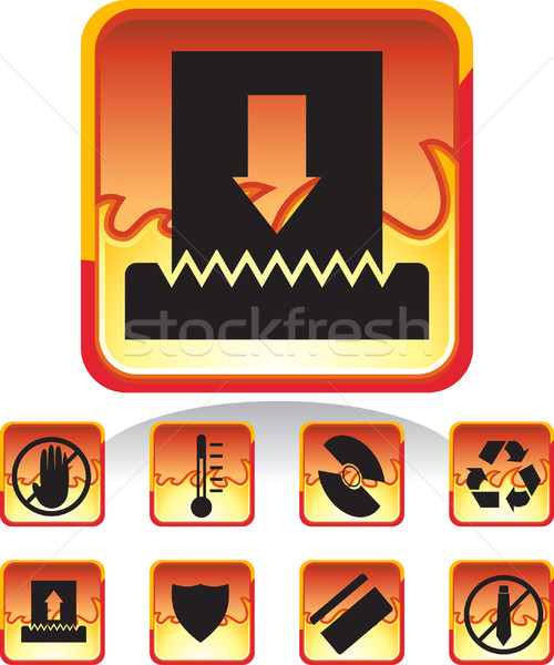 Shredder Icons Stock photo © cteconsulting