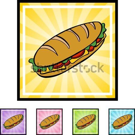 Tengeralattjáró szendvics rajz kép választék mindkettő Stock fotó © cteconsulting