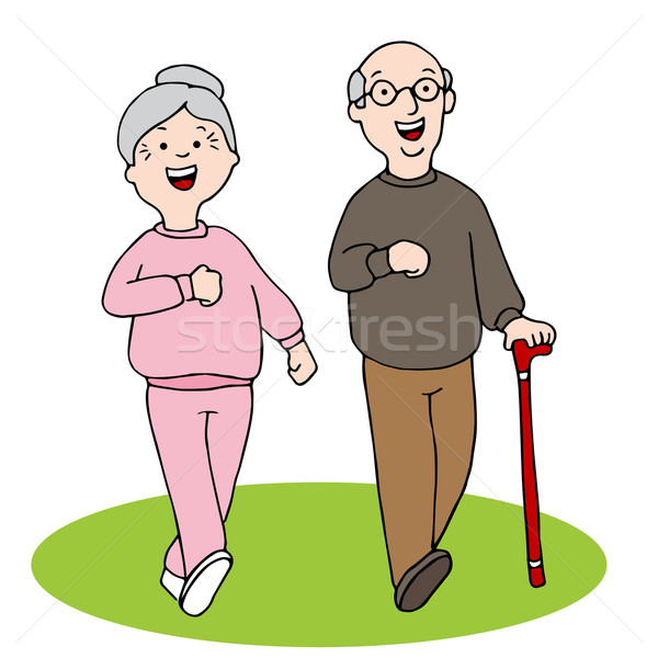 Senior Citizens Walking Stock photo © cteconsulting