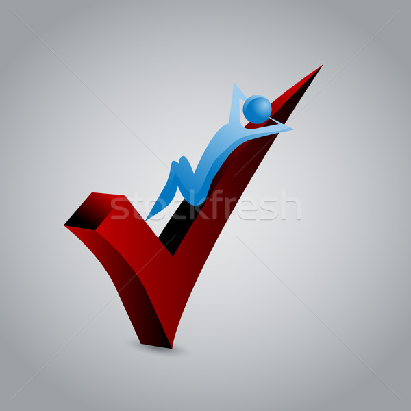 3d Red Checkmark Man Stock photo © cteconsulting