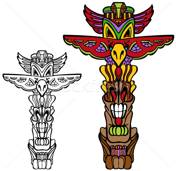 Totem Pole Stock photo © cteconsulting