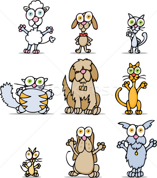 Cartoon Cats and Dogs Stock photo © cteconsulting