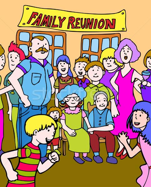 Aile birleşme birlikte toplantı dizayn imzalamak Stok fotoğraf © cteconsulting