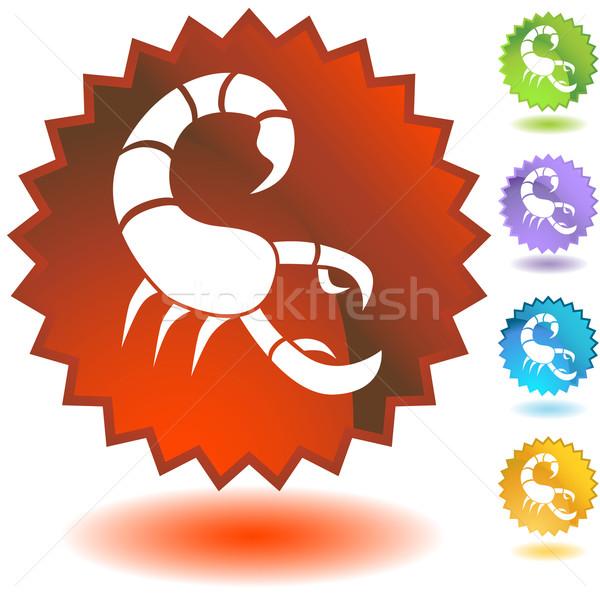 набор зодиак Label иконки дизайна земле Сток-фото © cteconsulting